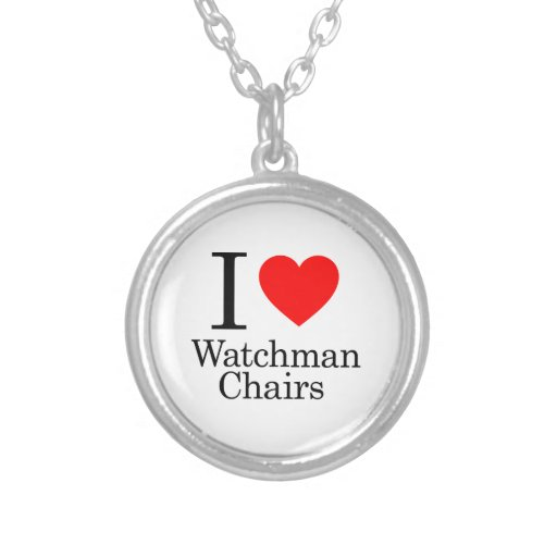I Love Watchmen Chairs Custom Necklace