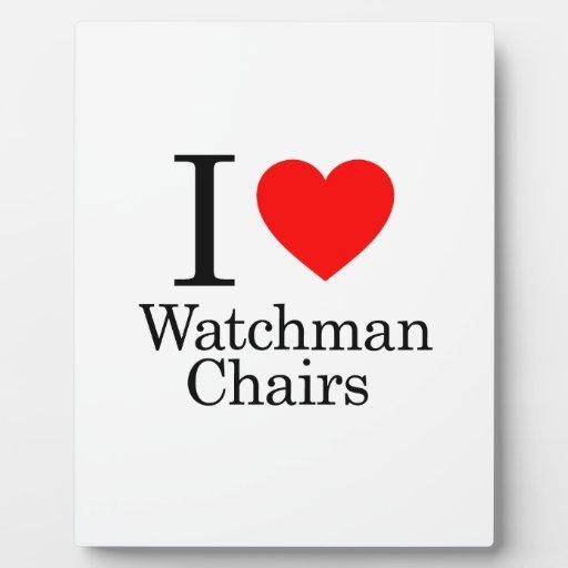 I Love Watchmen Chairs Photo Plaque