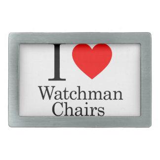 I Love Watchmen Chairs Rectangular Belt Buckles