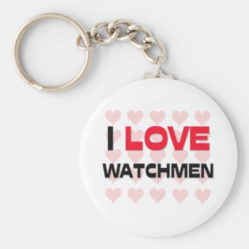 I LOVE WATCHMEN KEY CHAIN