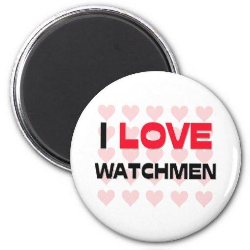 I LOVE WATCHMEN REFRIGERATOR MAGNET