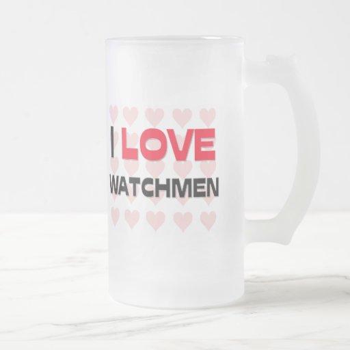 I LOVE WATCHMEN MUG