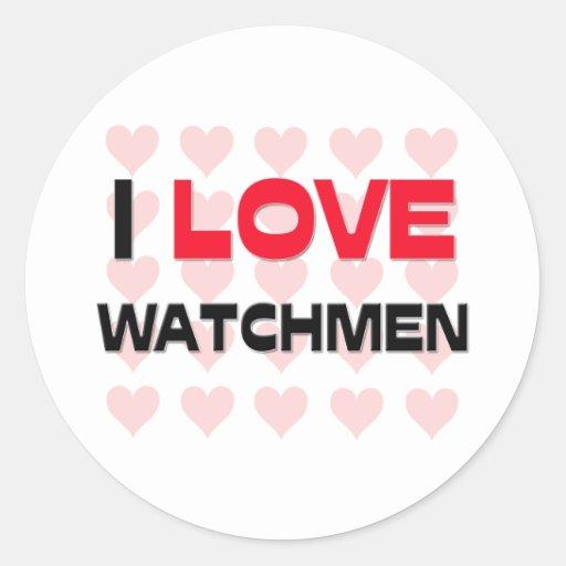 I LOVE WATCHMEN STICKERS