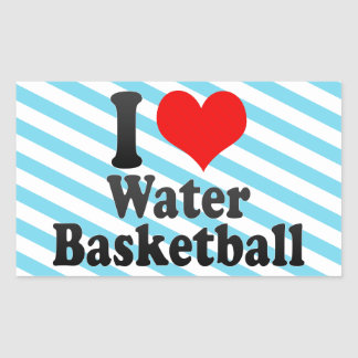 I love Water Basketball Sticker