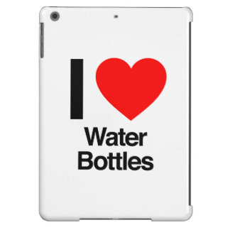 i love water bottles iPad air case
