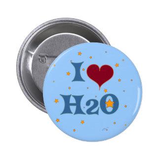 I Love Water! 2 Inch Round Button