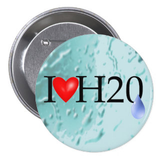 I Love Water Button