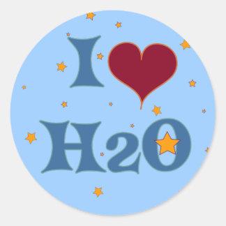 I Love Water! Classic Round Sticker