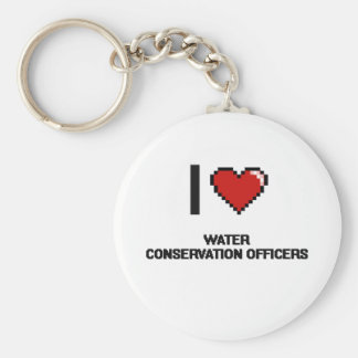 I love Water Conservation Officers Basic Round Button Keychain