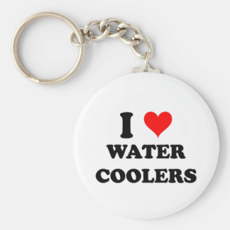 I Love Water Coolers Basic Round Button Keychain