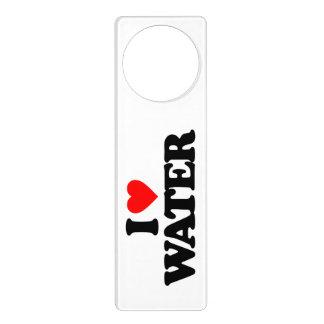 I LOVE WATER DOOR KNOB HANGER