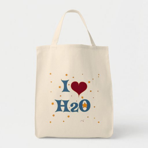 I Love Water! Grocery Tote Bag