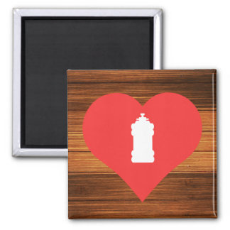 I Love Water Hydrants 2 Inch Square Magnet