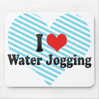 I Love Water Jogging Mouse Pad