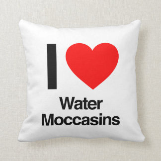i love water moccasins pillow
