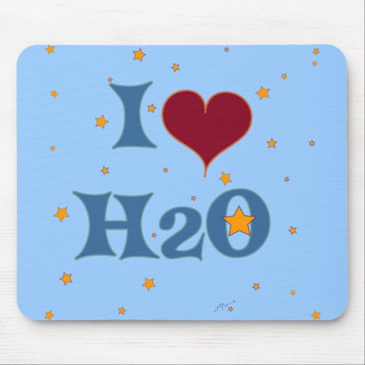 I Love Water! Mousepad