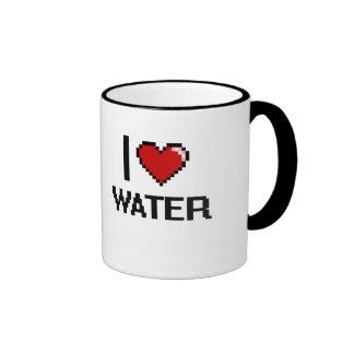 I Love Water Ringer Mug