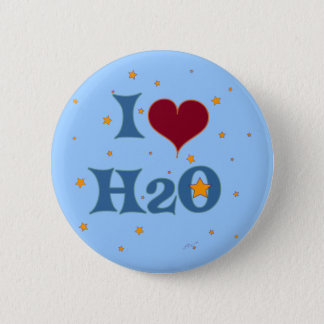 I Love Water! Pinback Button