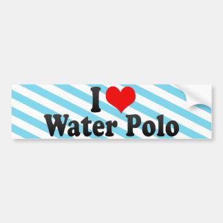 I Love Water Polo Car Bumper Sticker