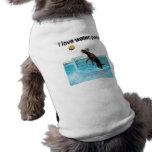 I love water polo doggie tee