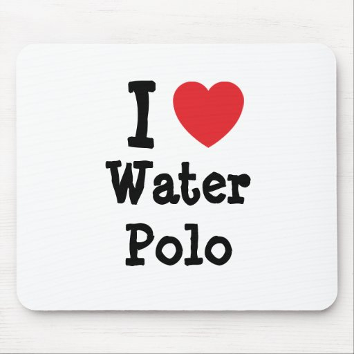 I love Water Polo heart custom personalized Mouse Pad