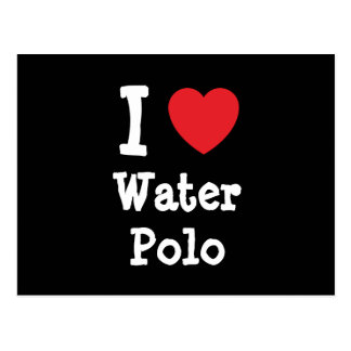 I love Water Polo heart custom personalized Postcard