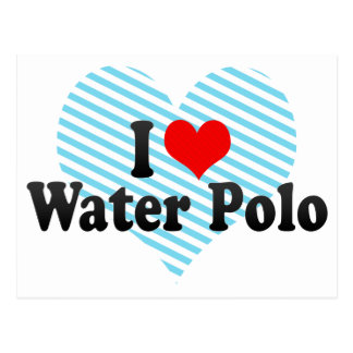 I Love Water Polo Postcards