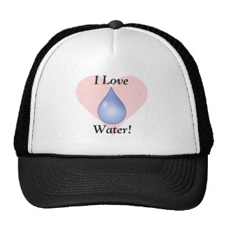 I Love Water! Print Trucker Hat