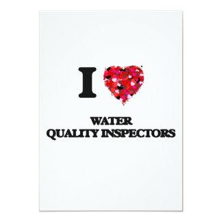 I love Water Quality Inspectors 5x7 Paper Invitation Card