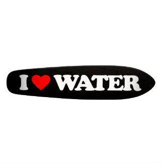 I LOVE WATER SKATEBOARD DECK