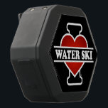 """I Love Water Ski Black Bluetooth Speaker<br><div class=""""desc"""">Then, why don&#39;t you take it home? THINK ABOUT IT! Believe it or not, what makes this item really exceptional and spectacular is that it&#39;s incredible, super HIGH QUALITY from upside down, as well as its PURE and ORIGINAL """"TWENTY FOUR CARAT"""" image printed on top, image which was digitally created...</div>"""