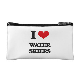 I love Water Skiers Cosmetic Bag