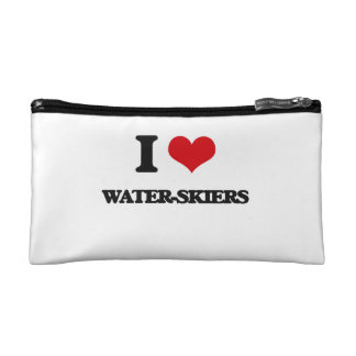 I love Water-Skiers Cosmetics Bags