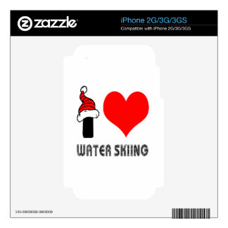 I Love Water Skiing Design Skin For The iPhone 3G