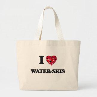 I love Water-Skis Jumbo Tote Bag