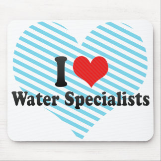 I Love Water Specialists Mousepads