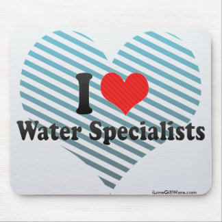 I Love Water Specialists Mouse Pads