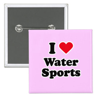I love water sports 2 inch square button