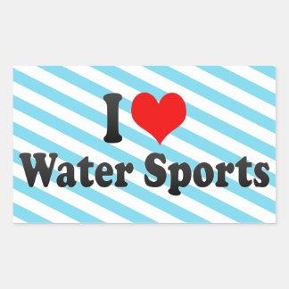 I love Water Sports Rectangular Stickers