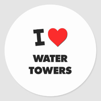 I love Water Towers Stickers