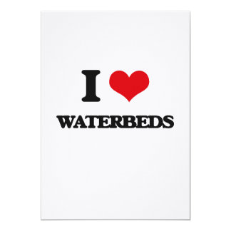 I love Waterbeds 5x7 Paper Invitation Card