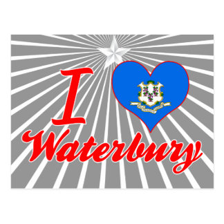 I Love Waterbury, Connecticut Post Cards