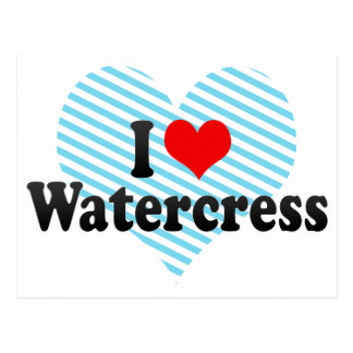 I Love Watercress Post Card