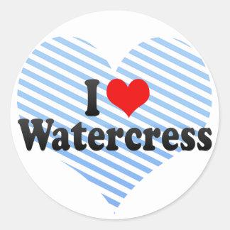 I Love Watercress Sticker