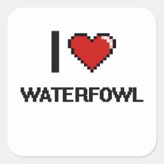 I love Waterfowl Digital Design Square Sticker