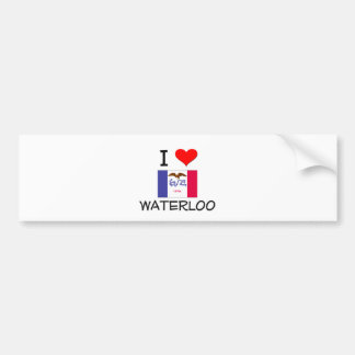 I Love WATERLOO Iowa Bumper Sticker