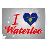 I Love Waterloo, Oregon Greeting Card