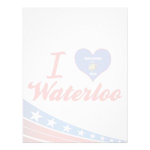 I Love Waterloo, Wisconsin Letterhead Design