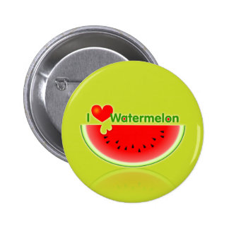 I Love Watermelon Button