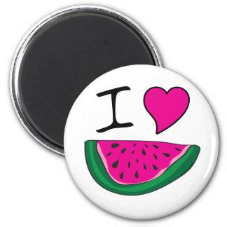 I Love Watermelon Fridge Magnet
